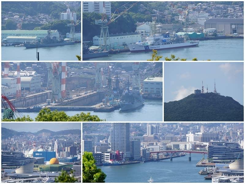 三菱第二船塢宿舍舊址看長崎港