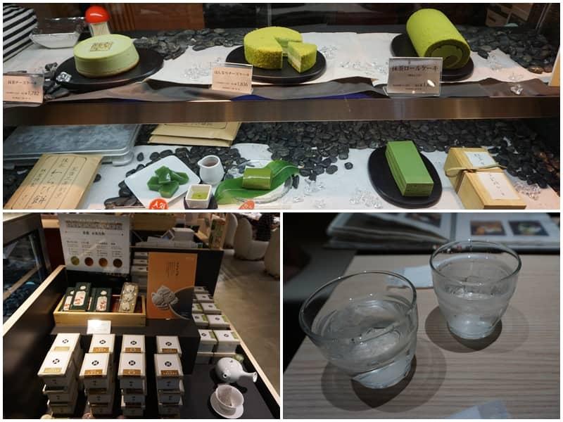 京はやしや 京林屋玻璃櫥櫃賣的甜點與蛋糕