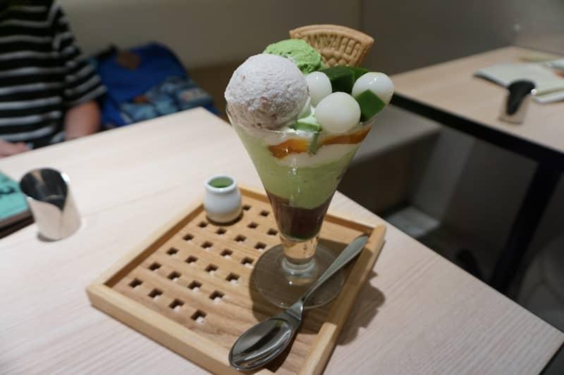 美味的濃茶パフェ(濃抹茶凍冰淇淋)