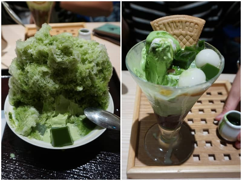 京林屋好吃的抹茶刨冰與抹茶凍