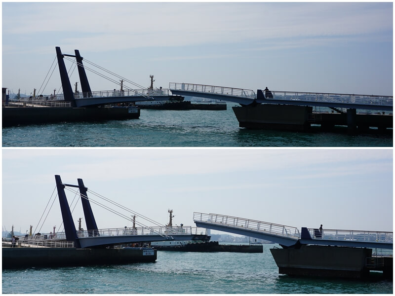 西海岸可動橋開橋