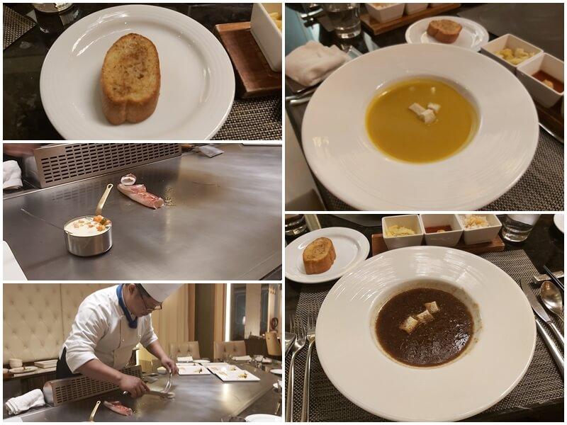 澄鐵板燒的濃湯