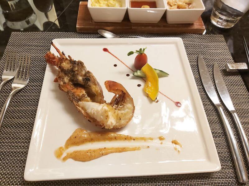 澄鐵板燒的龍蝦佐主廚特製醬