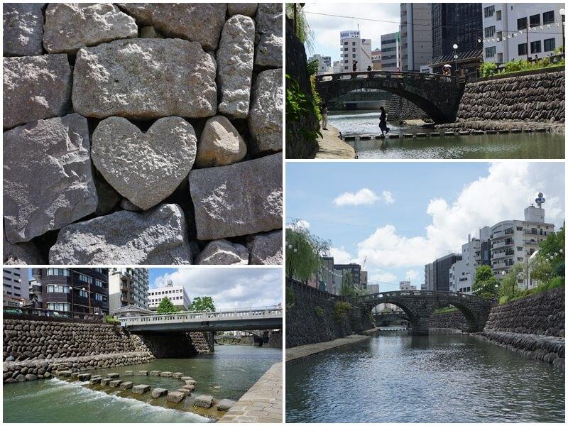 眼鏡橋附近的愛心石