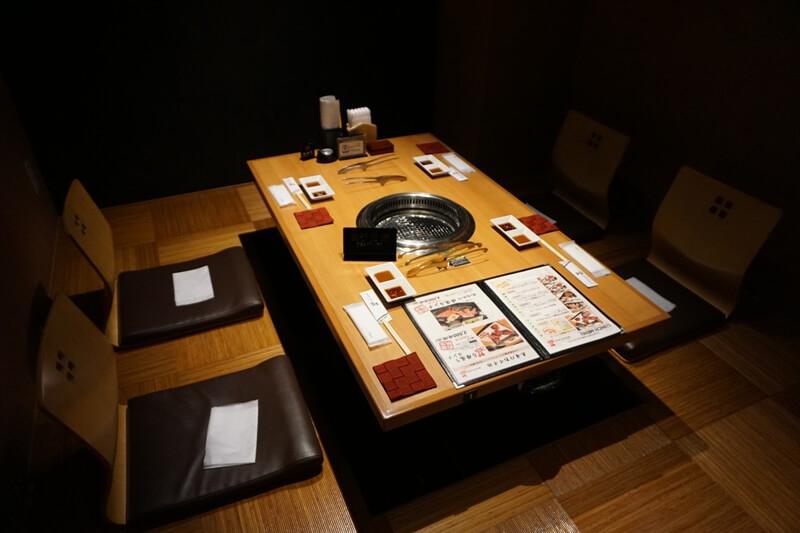 長崎和牛焼肉ぴゅあ的座位