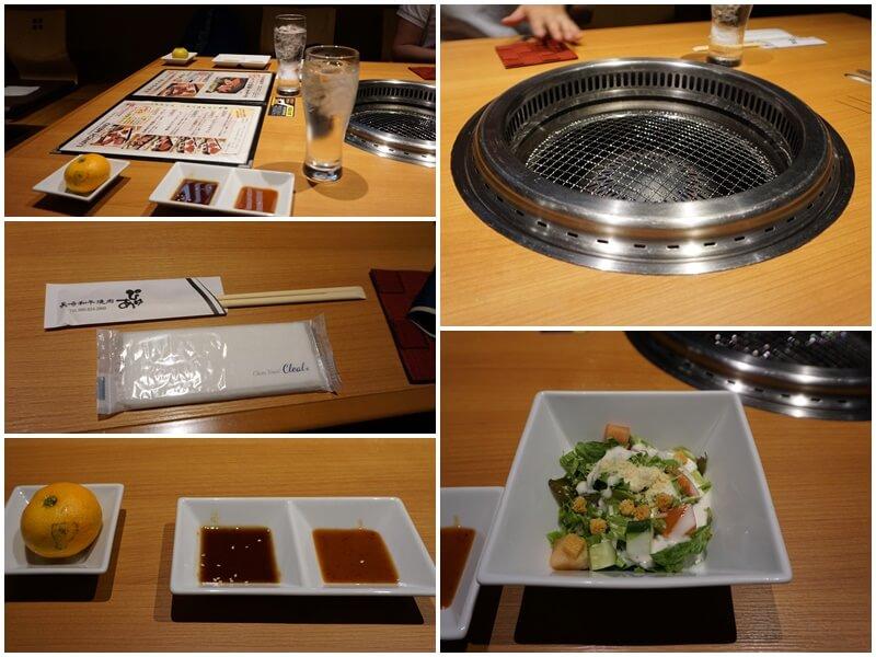 長崎和牛焼肉ぴゅあ 冰水與前菜